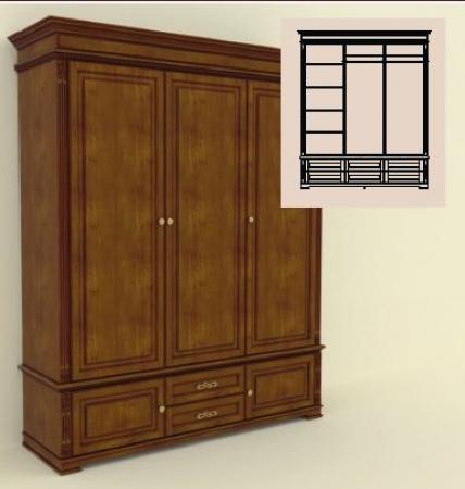 Шкаф трехдверный Акорн-м купить