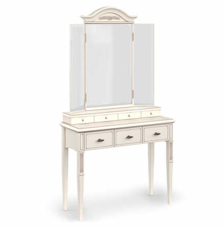 Стол туалетный с зеркалом трюмо, каркас массив бука