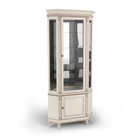 Витрина угловая однодверная стеклянная, с нижней дверкой Акорн-м купить