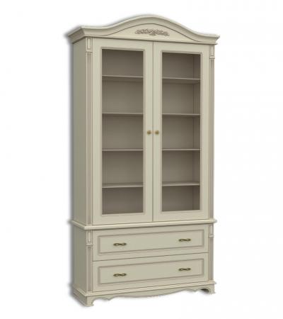 Шкаф книжный двухдверный, с 2-мя выдвижными ящиками Акорн-м купить