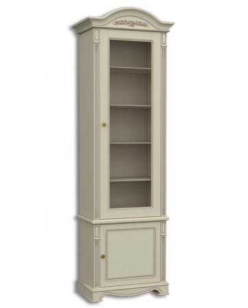 Шкаф книжный однодверный, с нижними дверками Акорн-м купить