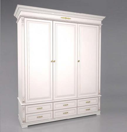 Шкаф трехдверный, с 6-ю нижними ящиками