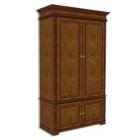 Шкаф двухдверный, с нижними дверками