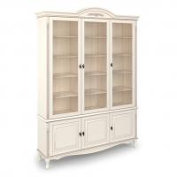 Шкаф книжный трехдверный,с нижними дверками