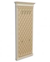 Панель-вешалка напольная, мягка спинка, экокожа, каретная стяжка
