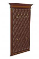 Панель-вешалка настенная, мягка спинка, экокожа, каретная стяжка