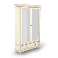 Шкаф двухдверный с зеркалами и нижними ящиками