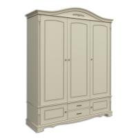 Шкаф трехдверный, с 2-мя нижними дверками и 2-мя ящиками