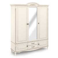 Шкаф 3-х дверный с зеркалом.  Нижняя секция с 2 ящиками, 2 распашными фасадами