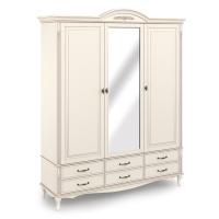 Шкаф 3-х дверный с зеркалом.  Нижняя секция с 6 ящиками