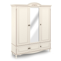 Шкаф 3-х дверный с зеркалом.  Нижняя секция с 3 распашными фасадами