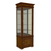 Витрина однодверная стеклянная, с нижней дверкой