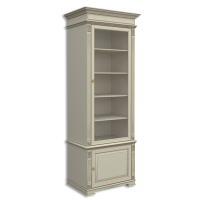 Шкаф книжный однодверный, с нижней дверкой