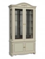Витрина двухдверная стеклянная, с нижними дверками
