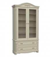 Шкаф книжный двухдверный, с 2-мя выдвижными ящиками