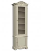 Шкаф книжный однодверный, с нижними дверками