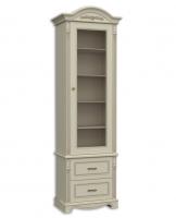 Шкаф книжный однодверный, с 2-мя выдвижными ящиками