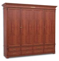 Шкаф четырехдверный, с 8-мя ящиками