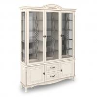 Витрина трехдверная стеклянная, с нижними дверцами и 2 выдвижными ящиками